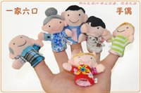 Wholesale 1000pcs CCA2453 Finger Puppet Plush Toys Baby Zodiac And Famliy Plush Lovely Play Learn Animal Story Toy Cute Cartoon Finger Doll Kids Toys