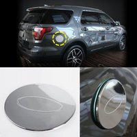 Wholesale 1PCS Silver ABS Fuel Tank Cap Lid Decorative Stickers Cover For Ford Explorer