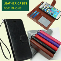 Cheap For iphone 6 6S 6plus 2 in 1 Magnetic Magnet Detachable Removable Wallet Leather Retro case Cover iPhone6 5 galaxy S7 edge DHL Free SCA155