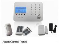 al por mayor red del sistema de alarma para el hogar-Android IOS APP 433Mhz de doble red de pantalla táctil Teclado LCD 99 zonas inalámbricas GSM / PSTN / SMS sistema de alarma de inicio