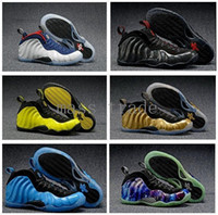 air foams - Northern Lights Penny hardway air Mens basketabll shoes foams trainer Foamposites One Olimpic Optic in Blue White Gold Black