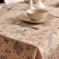 Wholesale Kapok linen tablecloths pastoral European American tea table cloth tablecloths table runners on sale