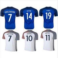 Wholesale French team2016 Survetement Camisas Paul Pogba Maillot de Foot Antoine Griezmann Camiseta de Futbol