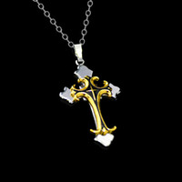 christian - New Titanium stainless steel necklaces for men Christian Jewelry gift cross Necklaces for men Mix color
