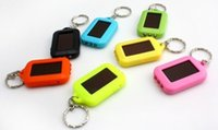 Wholesale New Mini Portable Solar Power LED Light Keychain Torch Flash Flashlight Key Ring Gift Rechargeable