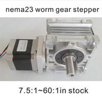 worm reducer - NEMA Worm Gearbox Stepper Motor CE ROHS Motor Length mm oz in Nema23 Worm Reducer Gear Stepper Motor