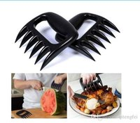 Wholesale 1 Bear Claws Meat Handler Fork Tongs Pull Shred Pork BBQ Tool ZH