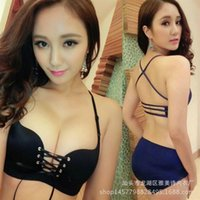 Wholesale Summer hot style sexy bra Small breasts together without rims LB pull force beauty underwear bra back