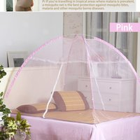 Wholesale 2016 Newest Mosquito Nets Meisje Measure Simple Assembly Tent Type Insecticide Treated Dome Bi parting Mosquito Nets colors Different Size