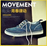 Wholesale 2016 Classic Fashion Denim canvas shoes unisex Lace up Breathe Canve Casual Flat Shoes skate shoes Street Cowboy