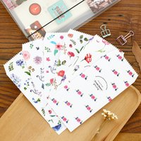 Wholesale pieces Fresh Flower Envelope Paper Colored Envelopes for Gift Cards