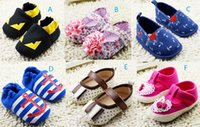 Bow anchor ties - Anchor spider man casual toddler shoes flower bow baby shoes boys girls walking shoes M infant sports shoes pairs C
