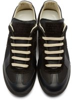 Lace-Up aslo shoes - White and black colors maison martin margiela footwear breathable mesh aslo durable leather mens outdoor shoes