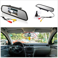 Wholesale Car Auto Reverse Parking Rearview Mirror quot Color Digital LCD Display Monitor yy408