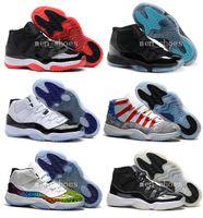 achat en gros de lune d'or-Haute Qualité rétro 11 chaussures de basket-ball Hommes Femmes 11s or Olympique Jamais Espacé Espace 11s Concord XI Lune Landing Athlétisme Sneakers Avec Box