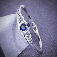 apple bracelet charm - Crystal apple shape bracelet silver exquisite fashion Korean style luxury popular new design elegant classic bracelet GLW275