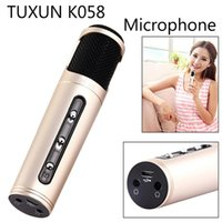 Wholesale TUXUN For IOS Android Smartphone Handheld Portable Karaoke Stereo Microphone KTV Home Player Speaker