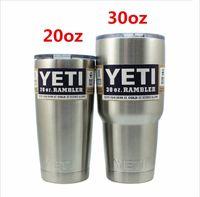 beer personality - 2016 new arrival YETI cups Rambler Colster Vacuu Tumbler Bilayer Stainless Steel Insulation Cup OZ Car Beer Mug Mug Tumblerful