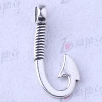 al por mayor joyería de bricolaje peces-Los pescados retros penden la plata / el bronce antiguos pendientes para el collar apto pendiente de la joyería de DIY o las pulseras 200pcs / lot 3498