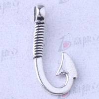 antique bronze hooks - Retro fish Hooks Pendant antique silver bronze for DIY jewelry pendant fit Necklace or Bracelets