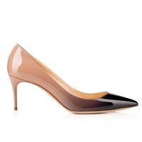 achat en gros de orteil pointu talons hauts-Karmran Femmes Chaussures De Mode À La Main Collete 85mm Pointy Toe Haut Talon Basic Office Party Pompes Chaussures Gradient