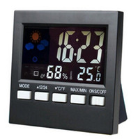 Digital background station - Free mail direct electronic clock new weather station clock background light color temperature Temperature and humidity meter