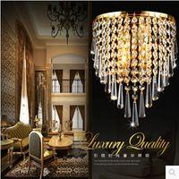 Wholesale Modern Crystal Chandelier Wall Light Lighting Fixture AC110V AC220V AC85 V E14 LED Wall Lamps for home lighting