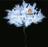 artificial christmas tree led - 2M Height Outdoor Artificial Christmas Tree LED Cherry Blossom Tree Light W W Straight Tree Trunk LED Light Tree AC110