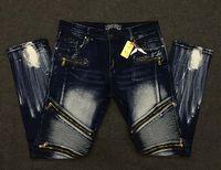 big mans pants - 2016 new Robin famous brand fashion biker jeans men big size slim fit male pant