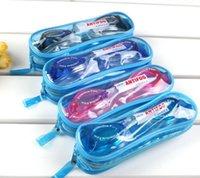Wholesale 2016 kids swimming goggles summer colorful waterproof PVC diving swim glasses