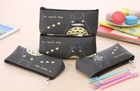 Wholesale Kawaii NEW CM PU TOTORO School Kids Pen Pencil BAG Pouch Lady Girl s Cosmetics Coin Purse BAG amp Wallet Holder Pouch BAG