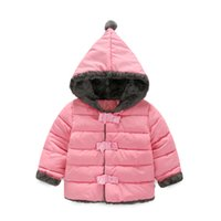 baby russia - 2017 Fashion Girl s Down jackets coats winter Russia baby Coats thick duck Warm jacket Hooded Thick Parka Winter Children Outerwear MC0396