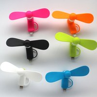 Wholesale Mini Micro USB in Portable Mobile Phone Fan For Android Phone Samsung HTC LG Iphone