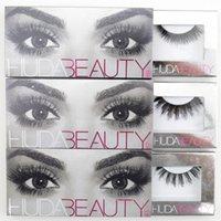 Wholesale Huda Beauty D MINK False Eyelashes Messy Cross Thick Natural Fake Eye Lashes Professional Makeup Bigeye Eye Lashes Handmade