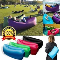 saco de dormir inflável Laybag inflável laybag Sleeping Bag Hangout Lounger Air Camping sofá da praia Nylon Tecido sono cadeira cama preguiçoso