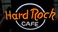 Business Custom NEON SIGN board Pour Hard Rock Cafe Marque REAL GLASS Tube BEER BAR PUB Club Shop Signes lumineux 16 * 12