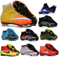 aa beige leather - New Original Mercurial Superfly FG Kids Soccer Shoes CR7 Hypervenom Womens Football Shoes Authentic Magista Obra Cleats Boots