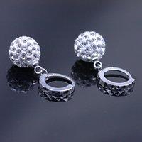 american discount store - 2016 New Store Discount sphericalcrystal earrings Shambhala diamond stud earrings silver earrings s925 silver crystal earring