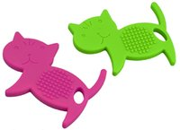 baby food cats - BPA Free Baby Chew Teether Food Grade Silicone Cute Cat Shape Teething Toys Animal Chewable Teether for Baby Toddlers Gift Toys