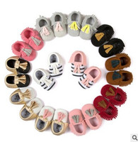 Wholesale Tassel Baby Shoes Autumn Fringe Moccasins Soft Moccs Shoes New Toddler First Shoes Tassel Infant First Walkers W288