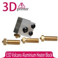 aluminium heater - 3D Printer E3D Volcano Aluminium Heater Block Volcano Extra Nozzle Full Metal for DIY D printer