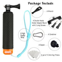 Wholesale ProFloat Waterproof Floating Hand Grip compatible with all GoPro Cameras Hero Session Black Silver Hero Orange Blue Yellow