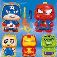 Wholesale 5styles Spider Man Iron Man Captain America Avengers summer children s backpack water gun