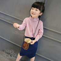 Wholesale Article fine red shirt children s wear girls long sleeved shirt shirt baby children jacket in the new spring summer children