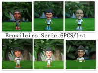 Wholesale Classic cm Soccer Star Doll Ronaldo Mini Resin Figure Office Doll Funny in white Kit