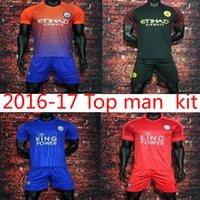 Wholesale mixed order Leicester City Arsenal Soccer Jersey Jamie Vardy Football Shirt Riyad Mahrez Ulloa Drinkwater camisas League Patches