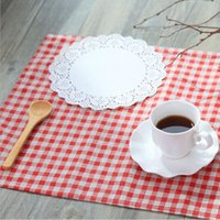 Wholesale 2017 New Plaid Design Cloth Placemats Cotton Table Napkin Mats Western style Food Pads For Home Decoration ZA1323