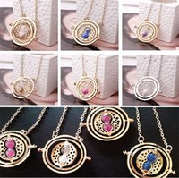 alloy lanyards - Fashion jewelry harry potter necklace time turner elements pendants necklace special lanyards dainty harry potter glass pendants