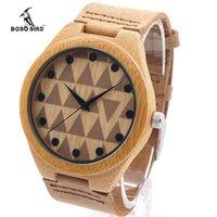 bamboo quartz - 2016 New BOBO BIRD Men s Bamboo Wood Watches Men Luxury Brand Men s Quartz Clock Sports Watch Man Handmade Wrist Watch lt no tracking