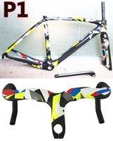 Wholesale 3K T1100 Glossy Matte finish Camouflage Peter Sagan carbon road bike frames handlebar RB1K NK1K road bike carbon frameset